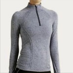 Athleta Fast Track 3/4 Zip Up Pullover